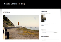 1 an au Canada : le blog