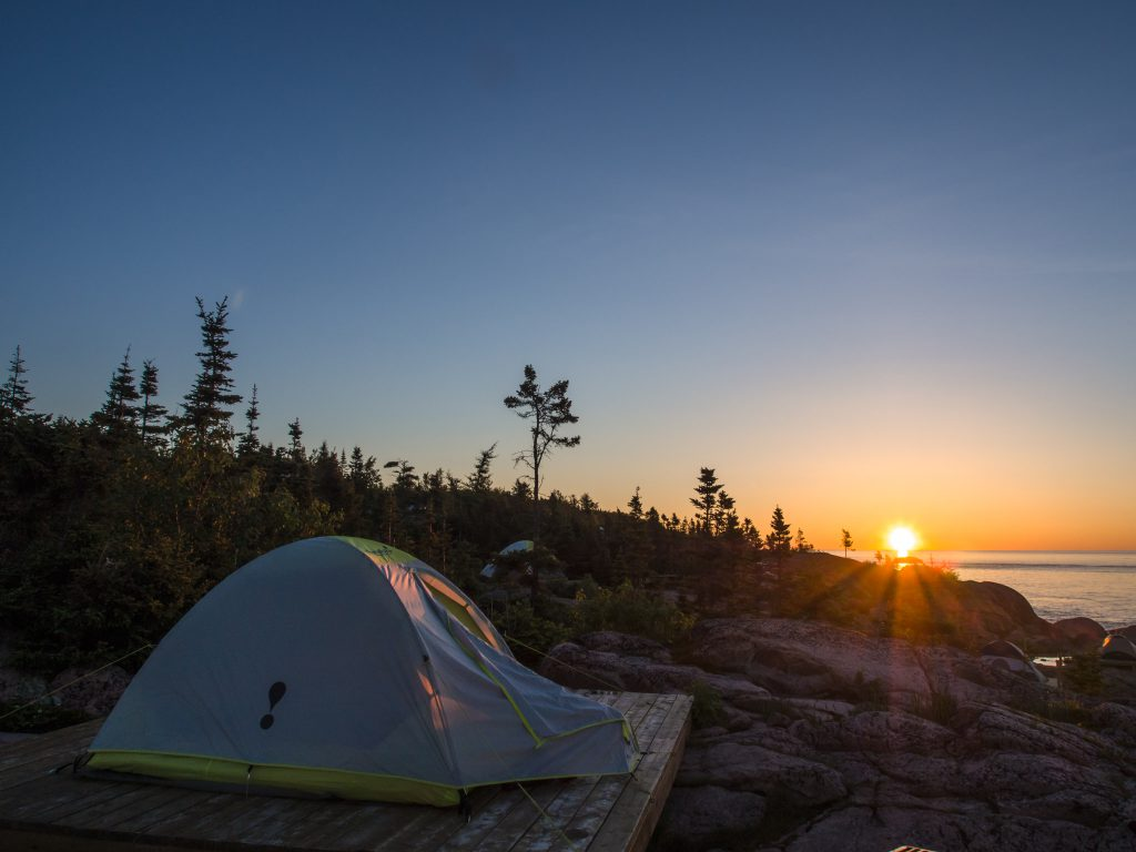 Camping mer et monde
