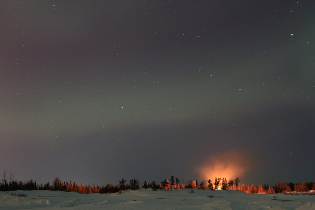 Bonfire in Yellowknife by Anson Chappell