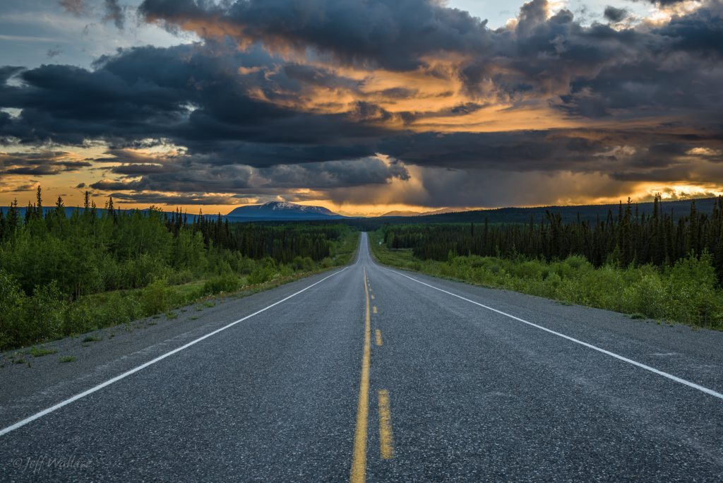 Alaska Highway by Jeff Wallace