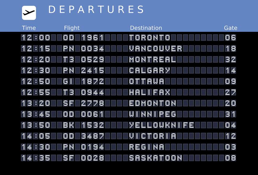 billet d'avion pour le Canada
