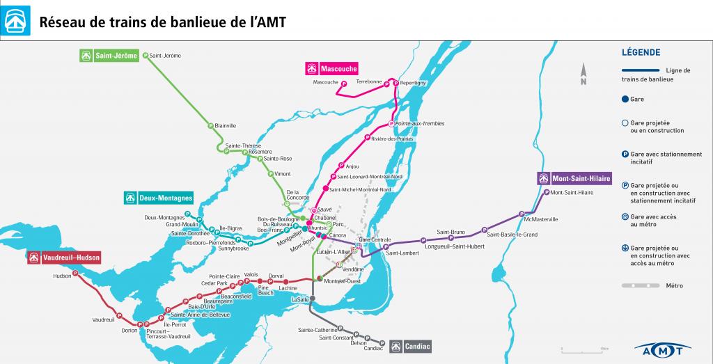 Transports à Montréal : trains banlieue