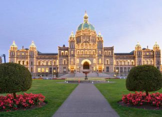 ville de victoria : British Columbia Parliament Buildings
