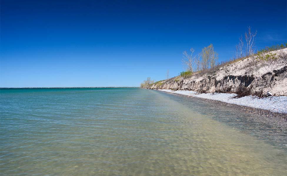 Plages du canada :sandbanks ontario