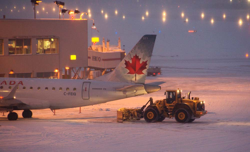 Hiver canadien : air canada avion